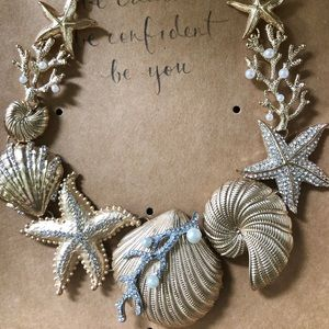 Sur Mer Statement Necklace seashells starfish
